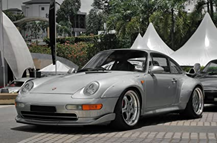 Porsche 911 993 GT2 Left Front Silver HD Poster Super Car 48 X 32 Inch Print