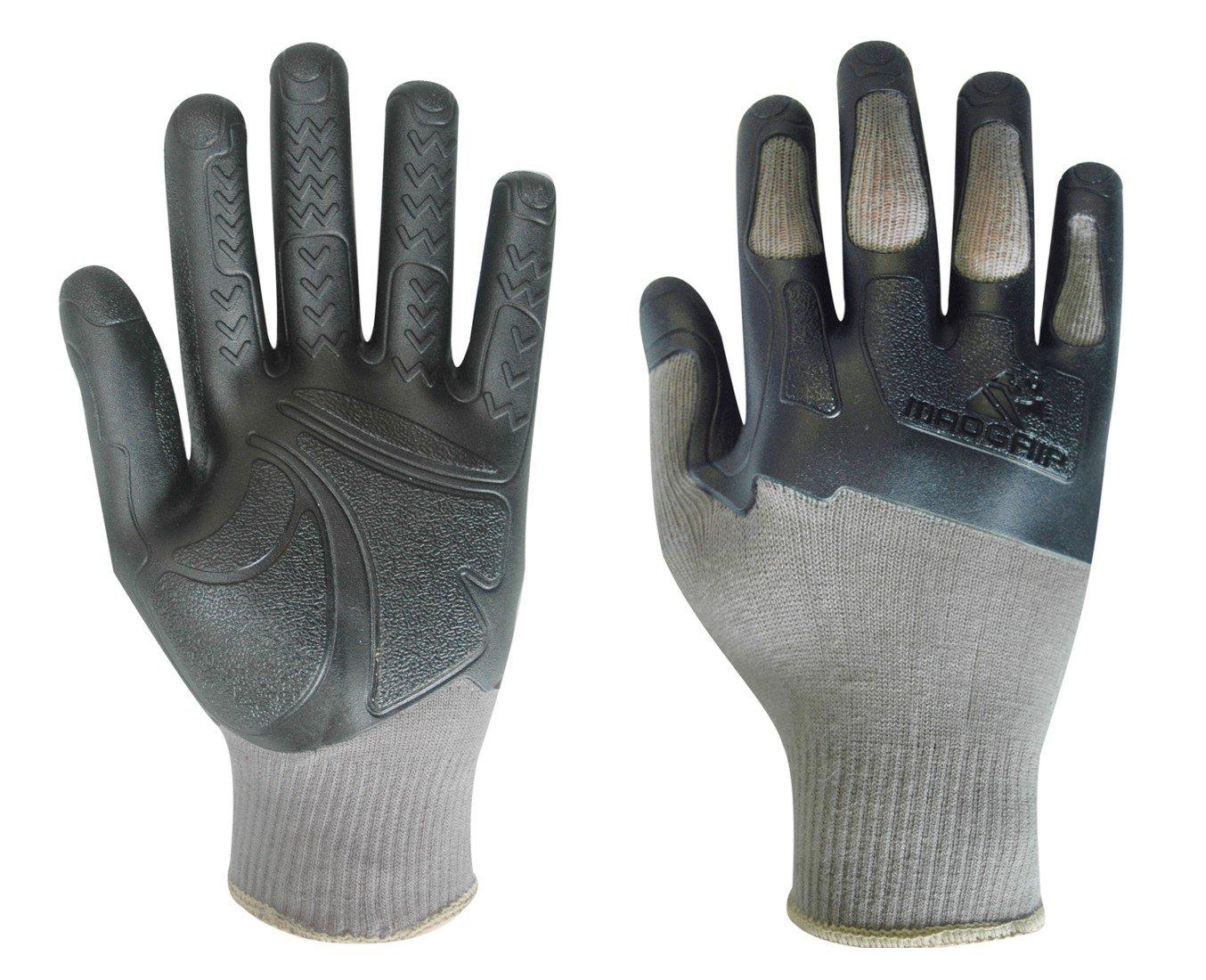 Mens gloves sale uk - Madgrip Pro Palm Knuckler Formula 200 700920 Work Gloves Industrial Quality With Knuckle Protectors Grey Size