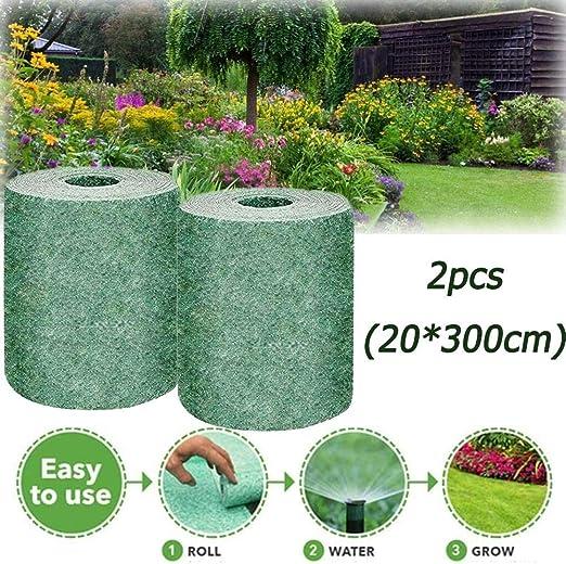 Amazon Com Mtdh Biodegradable Grass Seed Mat Seeds Premium Tough Fast Growing For Garden Lawns 2pcs Garden Outdoor
