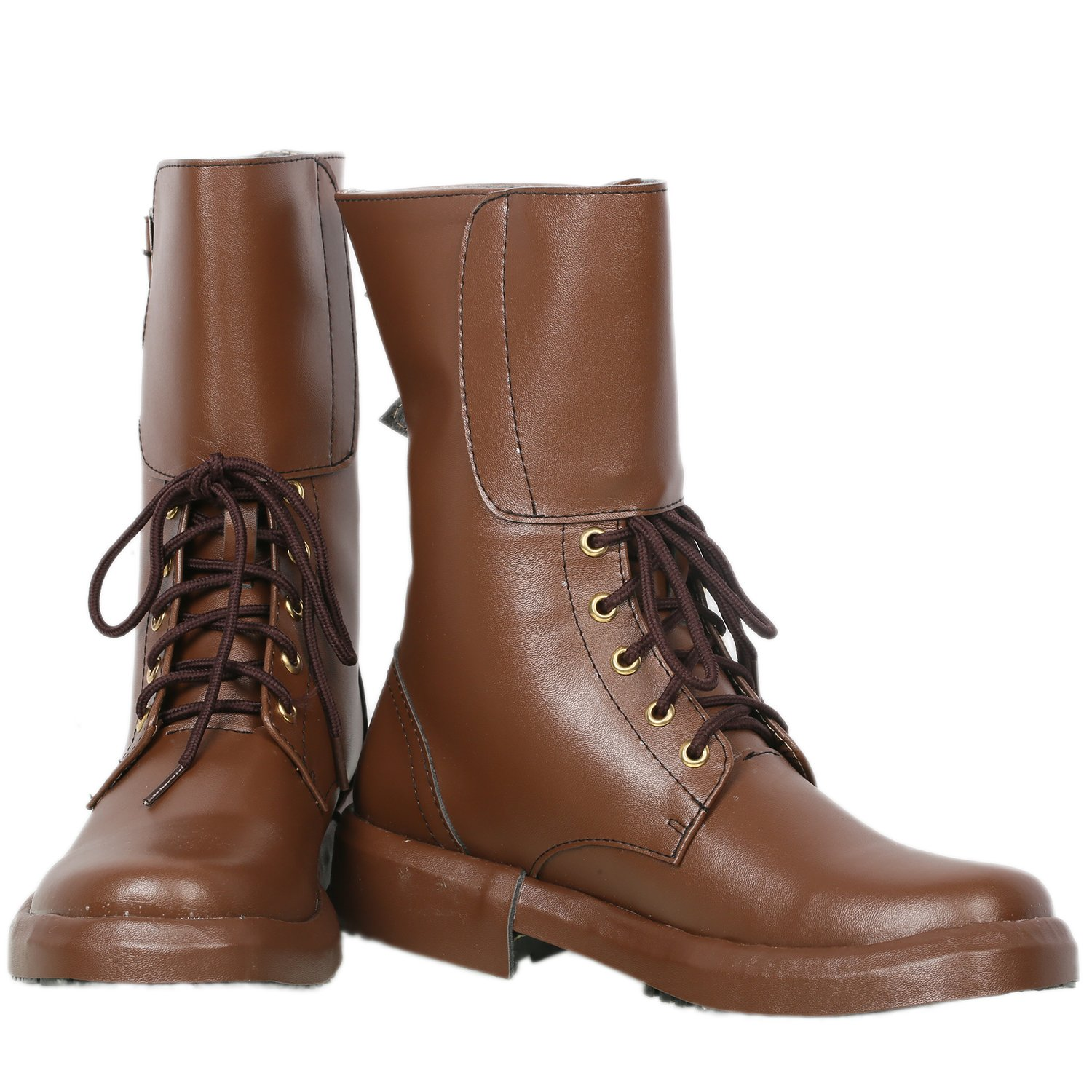 Newt Scamander Boots Brown Deluxe PU Ankle Fantastic Beasts Cosplay Shoes 42