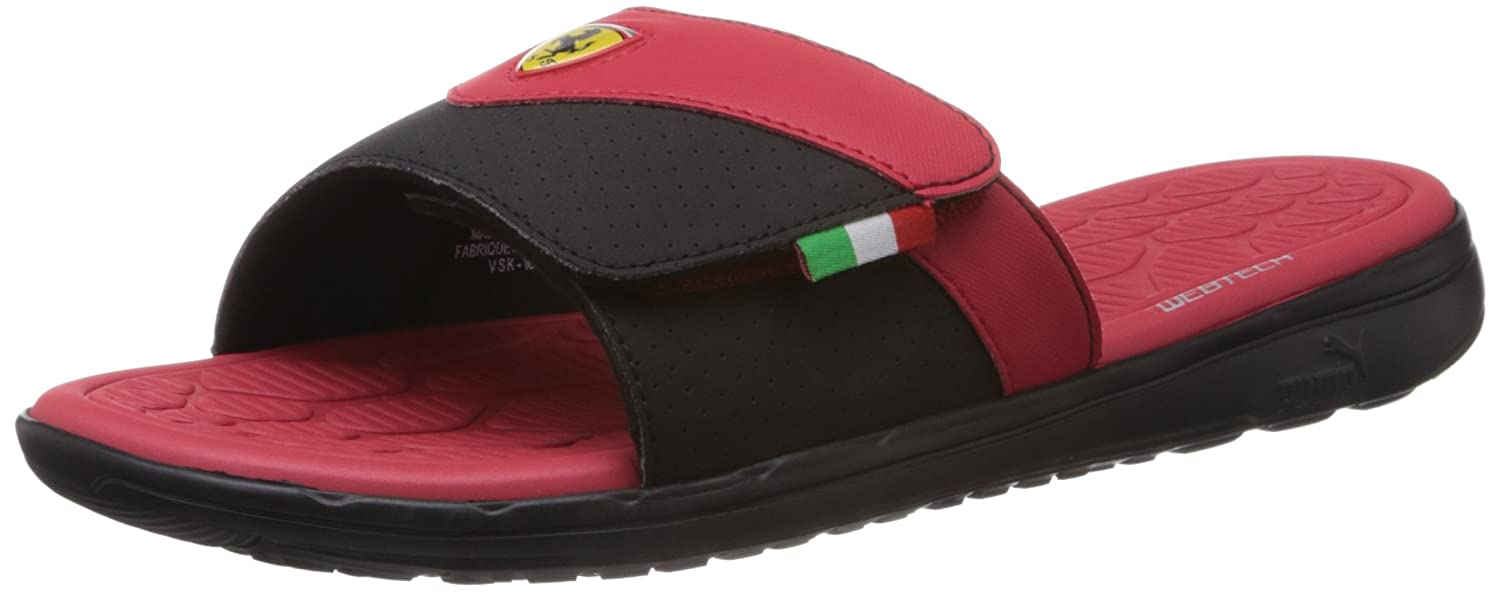 a1908b8b8a6 Puma Men s Ferrari Slip In Black Flip Flops and House Slippers - 8 UK India  (42 EU)  Buy Online at Low Prices in India - Amazon.in