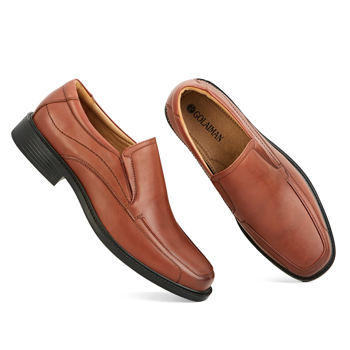 Classic Modern Formal Leader Slip On Loafer Mens Dress Shoes