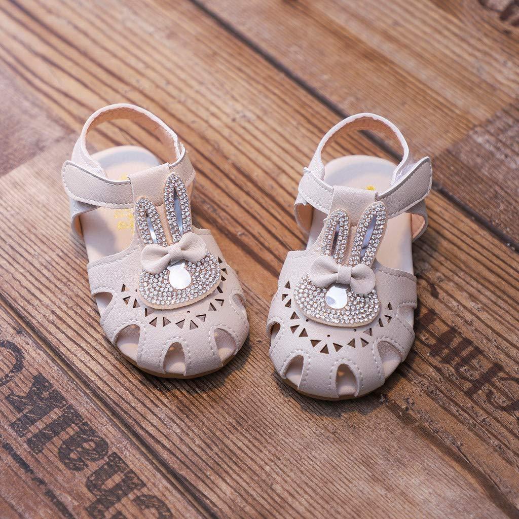 4eee52a9298c1 Amazon.com: Luonita Toddler Infant Baby Girls Princess Flat Mary ...
