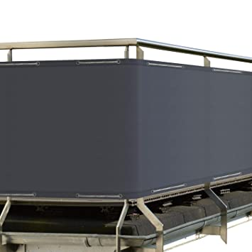 sol royal solvision balkon sichtschutz pb2 pes blickdichte balkonumspannung 90x500 cm anthrazit mit osen