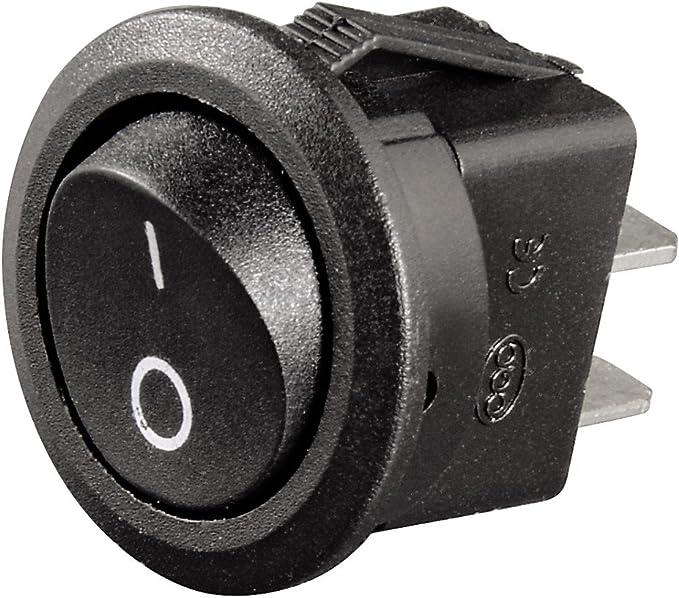 20x Wippschalter Einbauschalter Schalter mit Wippe Wippenschalter switch Schwarz