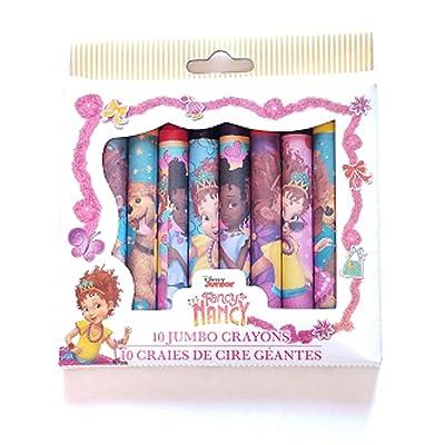 Fancy Nancy 10 Piece Jumbo Crayons Set: Toys & Games