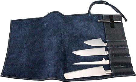 Compra Exclusivo Estuche para Cuchillos de Chef, de Cuero auténtico, para 7 Cuchillos, Equipamiento y Accesorios de Chef Azul Oscuro en Amazon.es