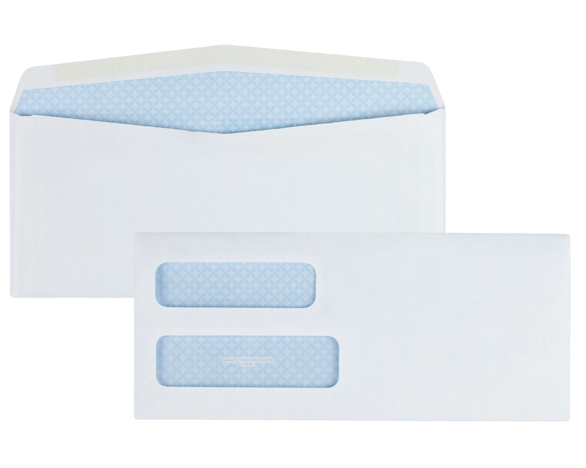 Quality Park #10 Double Window Envelope, Regular Gum, 500 Envelopes (24550)