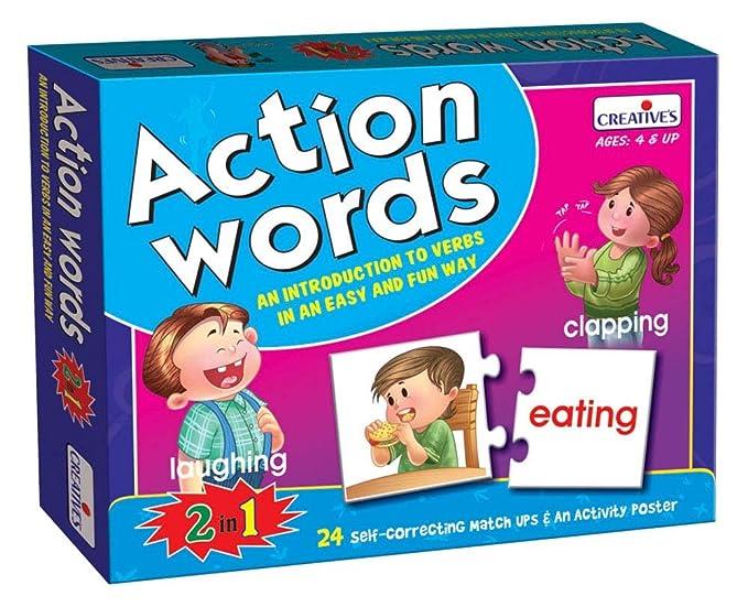 Creative's Education Enfants Mots d'Action 24 autocorrection match Ups