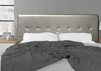 suenoszzz – Tête de lit Dakota (lit 90 cm) 100X57 argent: Amazon.fr ...