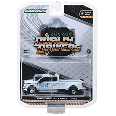 Greenlight 46020-F Dually Drivers Series 2-2020 Ford F-350 Dually - New York City Police Dept NYPD 1:64 Scale: Toys & Games