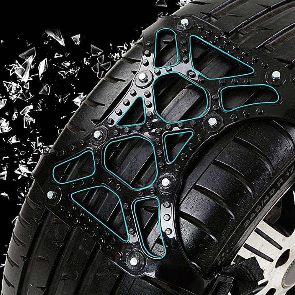 Schneeketten Reifenbreite 165-265mm 6pcs Schneeketten f/ür Auto Universelle Auto-Schneeketten f/ür Light Truck//SUV//ATV Winter Universal Reifensicherheitsketten