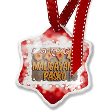 christmas ornament merry christmas in tagalog from philippines red neonblond - Merry Christmas Tagalog