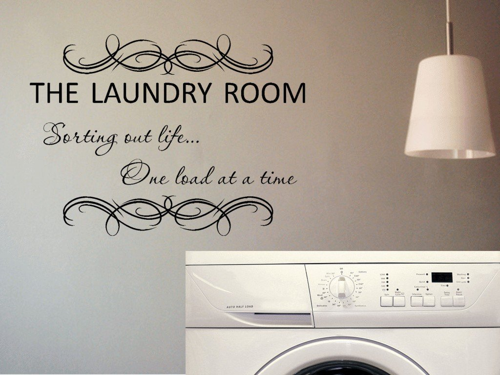 Amazon the laundry room sorting out life one load at a time amazon the laundry room sorting out life one load at a time vinyl wall decal home kitchen amipublicfo Gallery