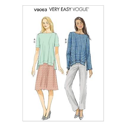 Vogue V9063 costura para confeccionar blusas, trajes, vestidos, moda, VGE 9063 ZZ