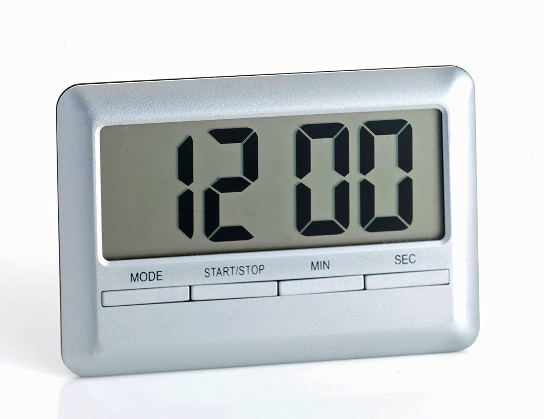 Large Display Magnetic Digital Kitchen Timer and Alarm Clock Satin ...
