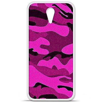 MTA-Carcasa de silicona, diseño de camuflaje, color rosa y ...