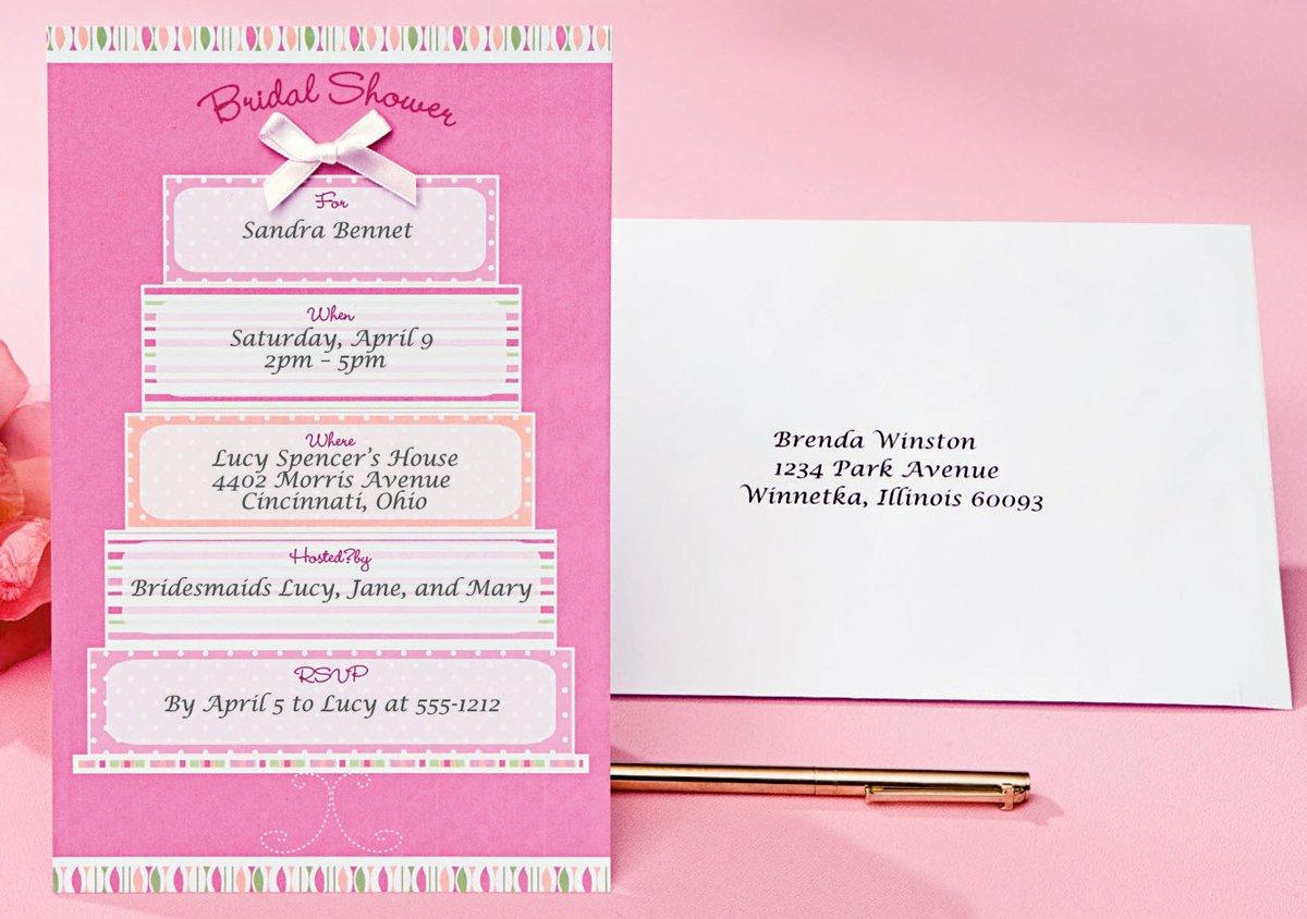Amazon Com Wilton Bridal Shower Cake Invitations Kitchen Dining