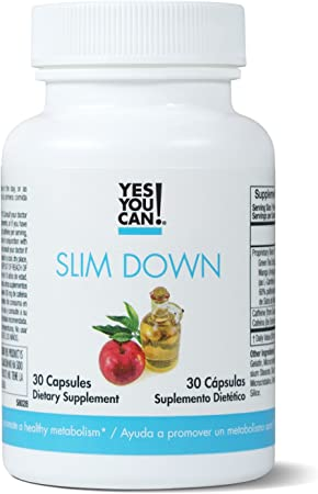 Yes You Can! Slim Down - Boost Your Metabolism, Increase thermogenesis. African Mango, L-Carnitine, Apple Cider Vinegar, Green Tea Extract. Quemador de Grasa - 30 Capsules