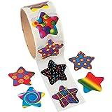 Funky Star Sticker Roll - 100 Stickers