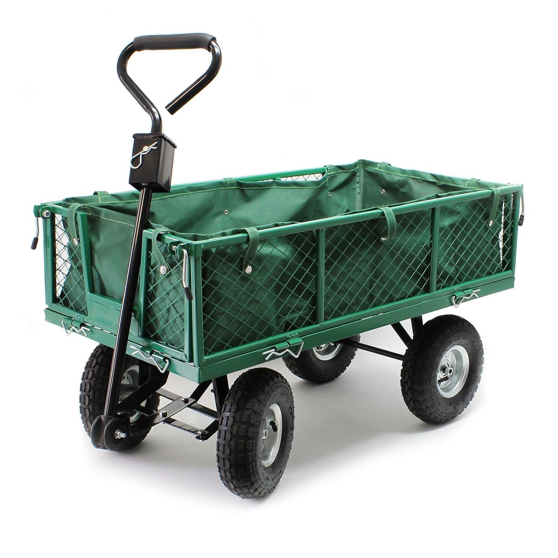 Transportwagen bis 300 kg mit abnehmbarer Einlegeplane und Ablage