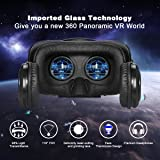 ATXXY VR Headset with Remote Controller 3D VR Glasses Virtual Reality Headset with Stereo Headphone and Adjustable Headstrap for 3D Movies & VR Games, Fit for 4.0-6.4 inch IOS/Android Smartphone