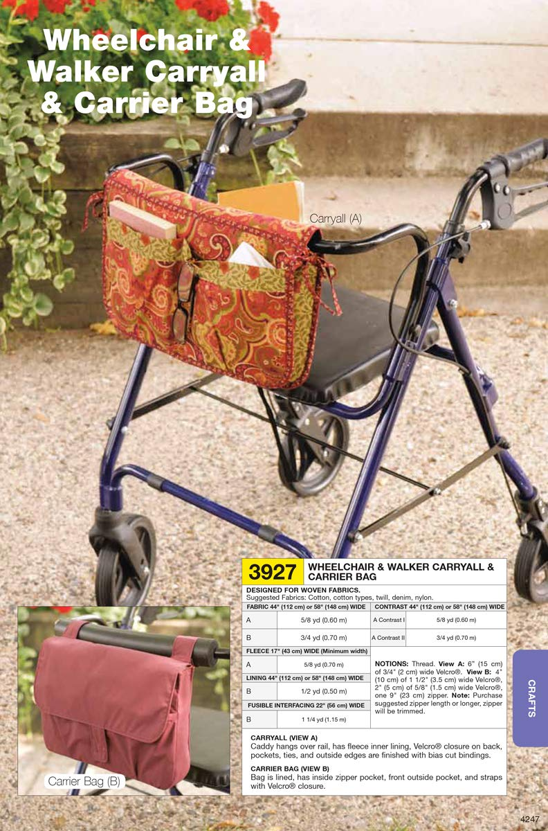Kwik Sew K3927 Wheelchair And Walker Carryall Wiring Diagram 2007 6 Carrier Bag Sewing Pattern No Size Arts Crafts