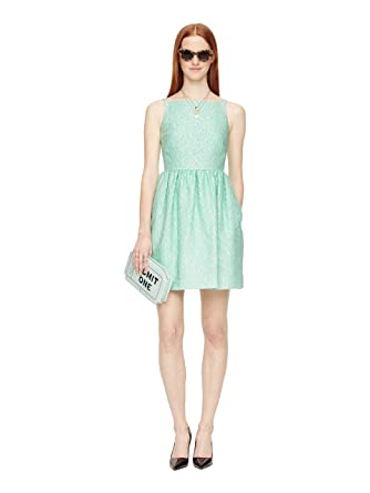 7252118a6def Amazon.com  Kate Spade New York Women s Textured Metalasse Sleeveless Fit   Flare  Dress