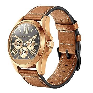 Correa de Repuesto para Correa de Piel auténtica DE 22 mm para Reloj Inteligente de MK Bradshaw: Amazon.es: Electrónica