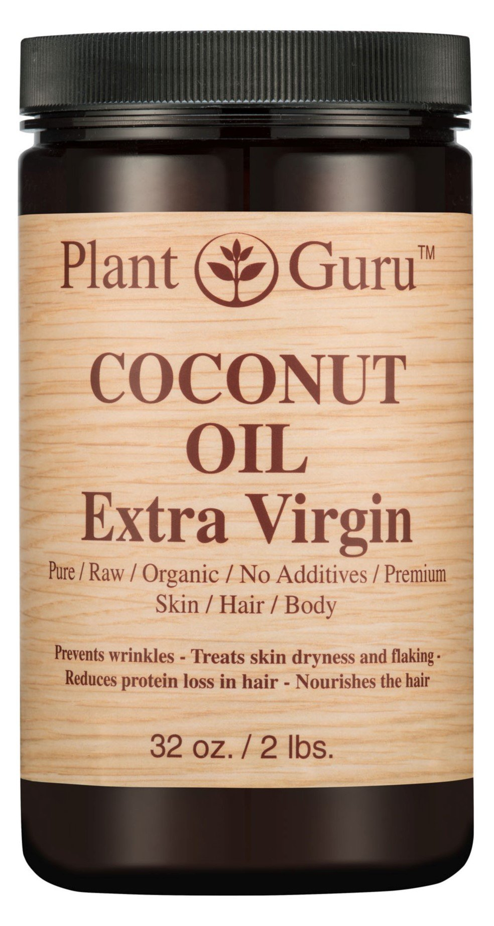 Coconut Oil Extra Virgin Body Butter 32 oz 100% Pure Raw Unrefined Natural Cold Pressed. For Skin, and Hair Growth Moisturizer. DIY Creams, Lip Balm, Lotions, Soap Making