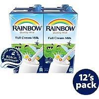 Rainbow UHT Milk Full Cream Carton, 12 x 1 Liter