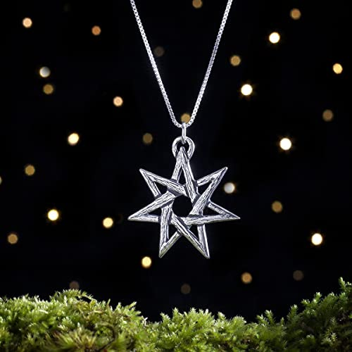 Amazon sterling silver fairy star heptagram pendant pendant sterling silver fairy star heptagram pendant pendant or necklace aloadofball