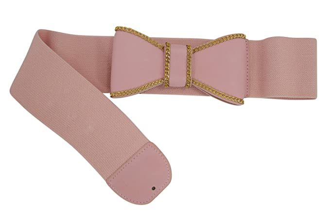 Vintage Wide Belts, Cinch Belts Retro Mod Pinup Lady Lolita Kawaii Bow Elastic Stretch Waist Belt $15.00 AT vintagedancer.com