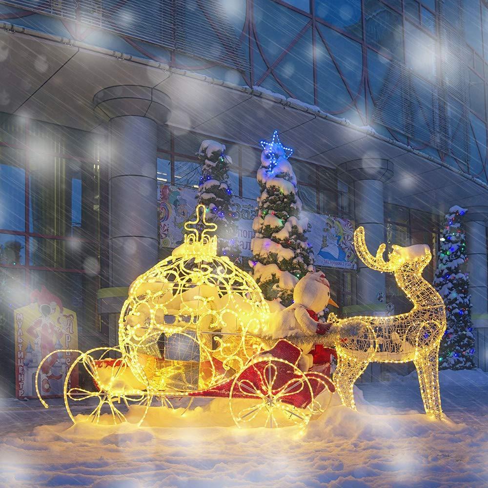 ENUOLI secuencia accionada solar de luces LED 100 8 Modos Luz de Navidad estrellada 33 pies 10M solar hada de la luna de luz autom/ático on off impermeable para Patio jard/ín Hogar Partido Camino de