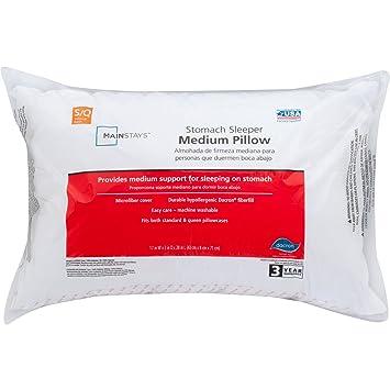 Amazon.com: Medium 100 Percent Polyester Pillow, King Size: Health ...