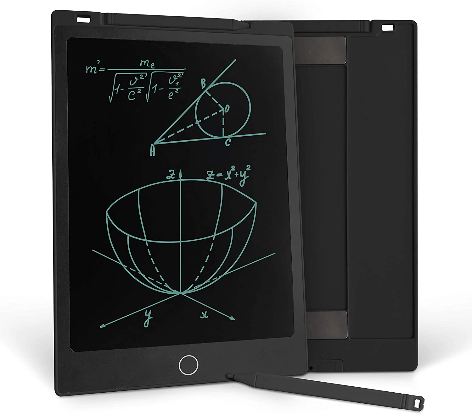 Richgv LCD Writing Tablet, 11 Inches Digital Electronic Graphics Tablet Ewriter Built-in Magnet Mini Board Handwriting Pad Suitable for Kids and Adults Black(2 Battery)