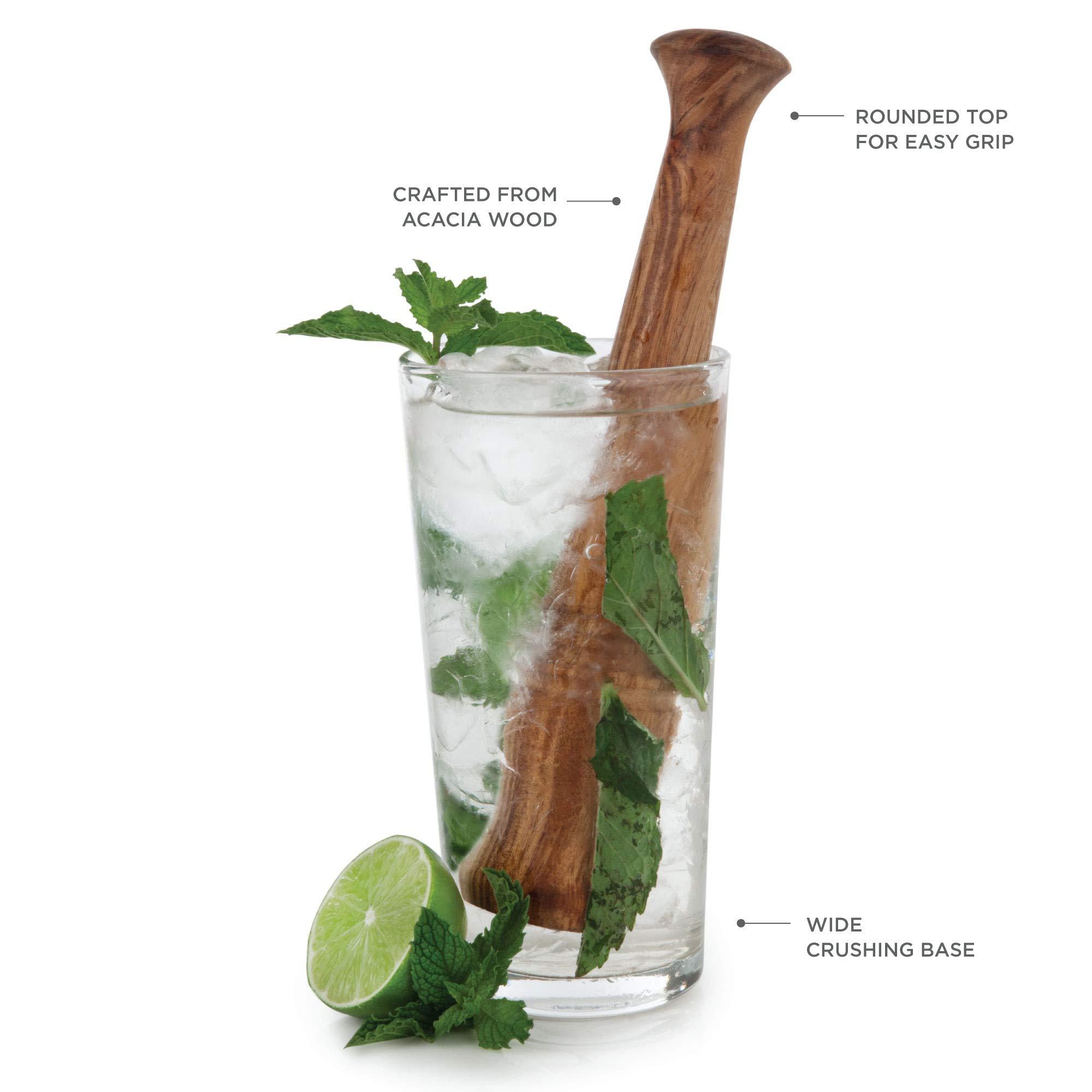 Scanwood Beechwood Cocktail /& Bar Wooden Mojito Muddler