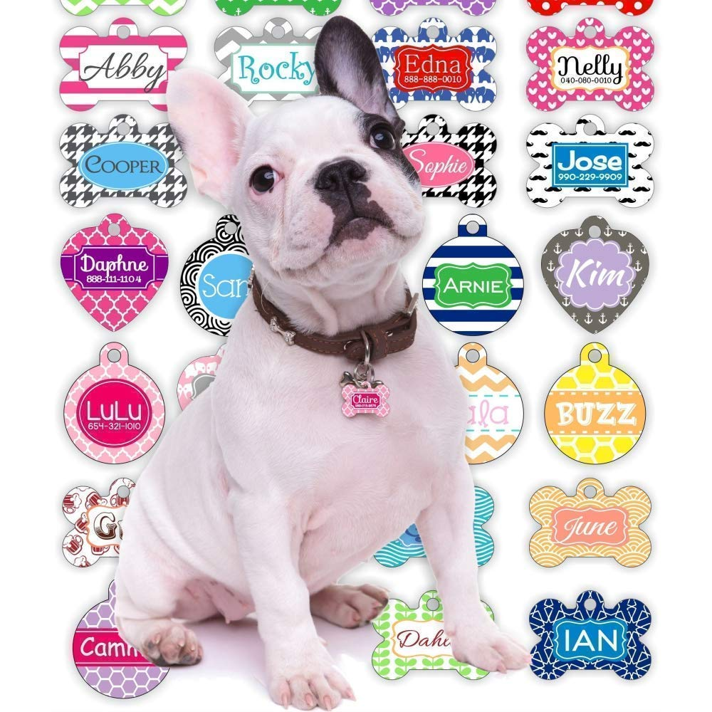 012561fee029 Amazon.com: Personalized Dog Tag for Dogs and Cats | Design Your Own Single  or Double-Sided Pet Tags | Unique Dog Gifts for Dog Lovers: Handmade