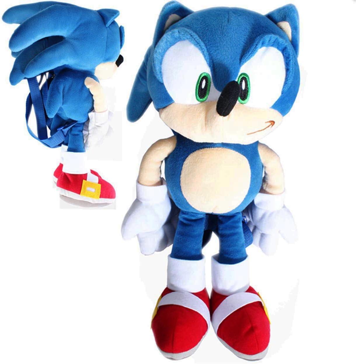 Amazon Com Sega Sonic The Hedgehog Sonic Plush Kids Backpack Toys Games