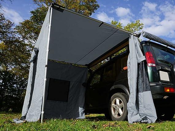 Prime Tech Seitenwände zur Dachzelt-Markise grau 200x200x210cm