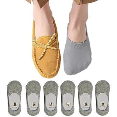 Amazon.com: Para mujer no show calcetines antideslizante ...