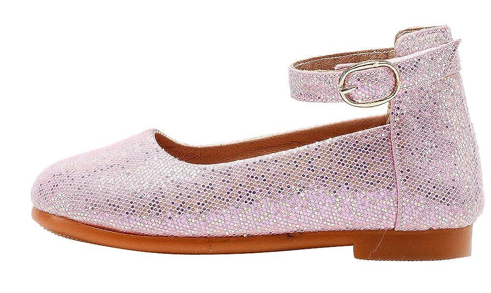 GESELLIE Girls Sparkle Princess Dress Elastic Strap Ballet Flats Toddler//Little Kid