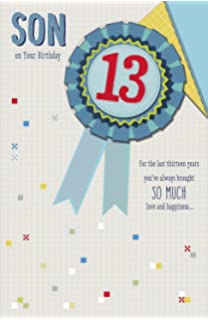 Son On Your 13th Birthday For The Last Thirteen Years13th Card