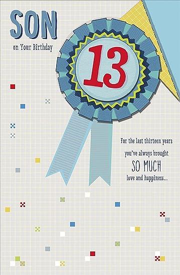 Amazon Son 13th Birthday Greeting Card