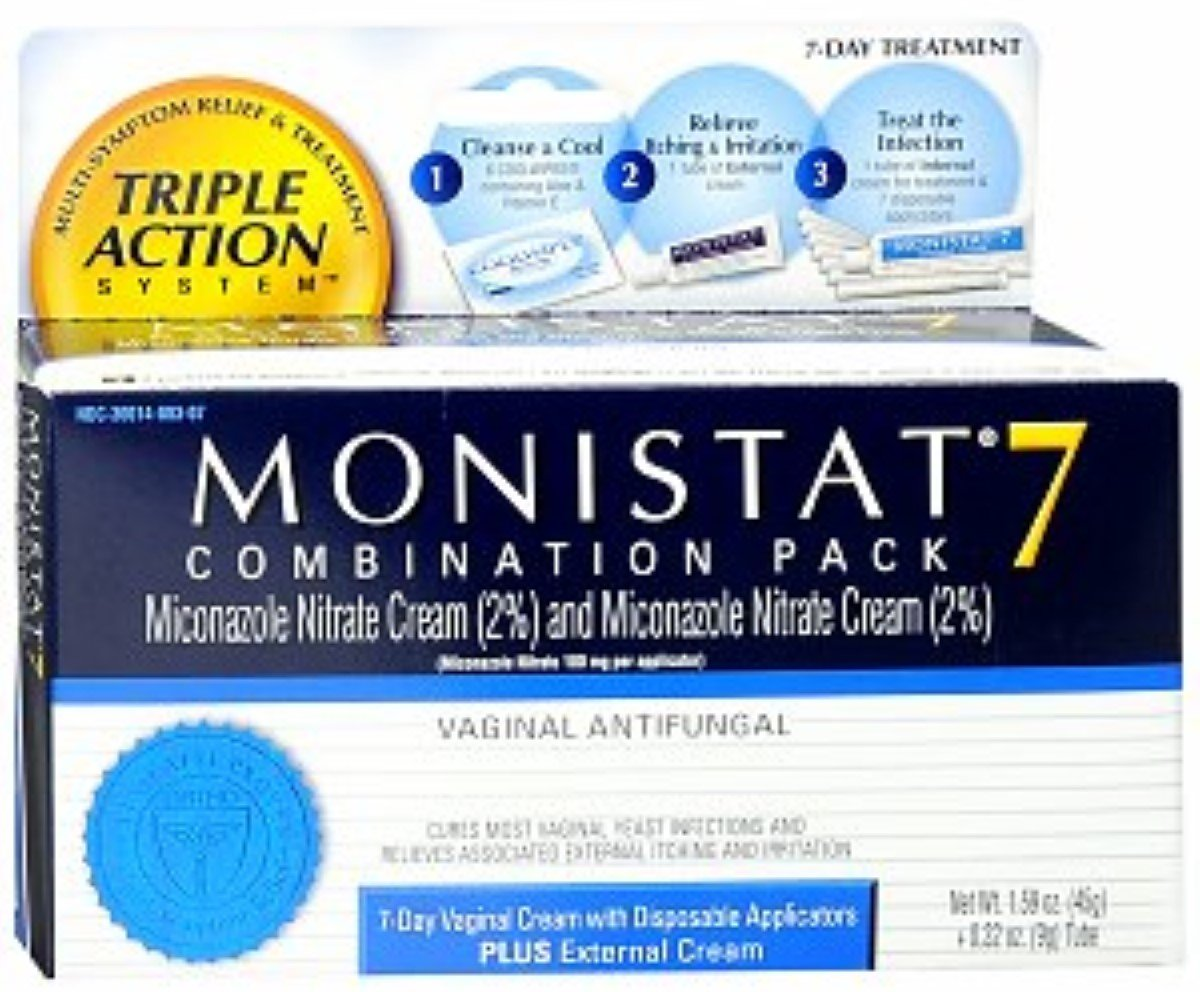 MONISTAT 7 Triple Action System, Combination Pack, 7-day Treatment 1 ea (Pack of 10)