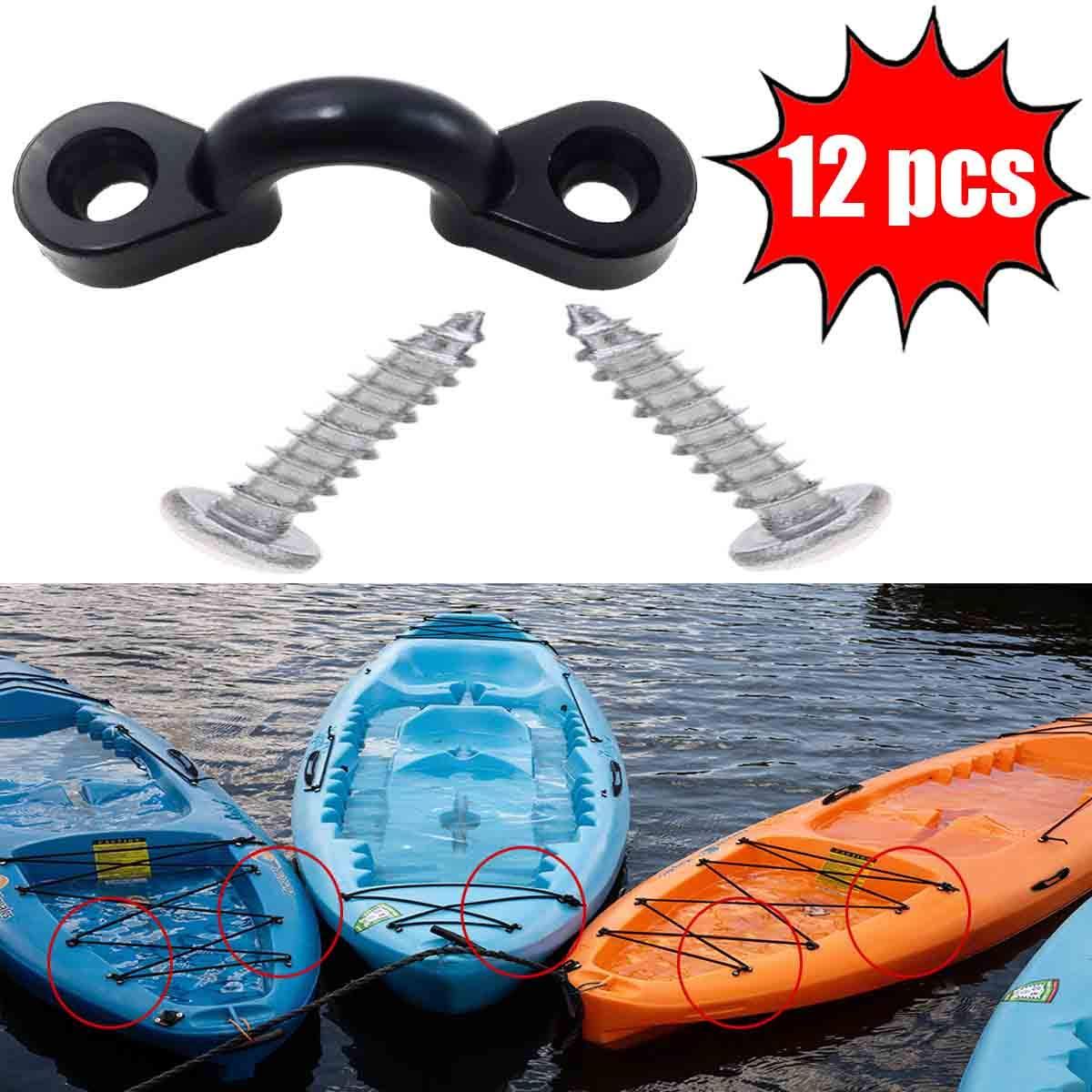 Deck Loops Tie Downs Nylon Bungee Pad Eye for Kayaks 50 Kayak Pad Eye Canoe