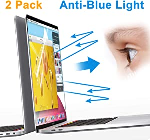 LILIONGTH Laptop Screen Protector Compatible Newest 2019 MacBook Pro16 Inch Model A2141,Anti Blue Light Screen Filter(2 Pack)