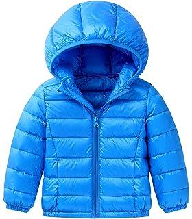 BOFETA Kids Ultra Light Weight Hooded Down Coat Girls and Boys Packable Winter Puffer Down Jacket