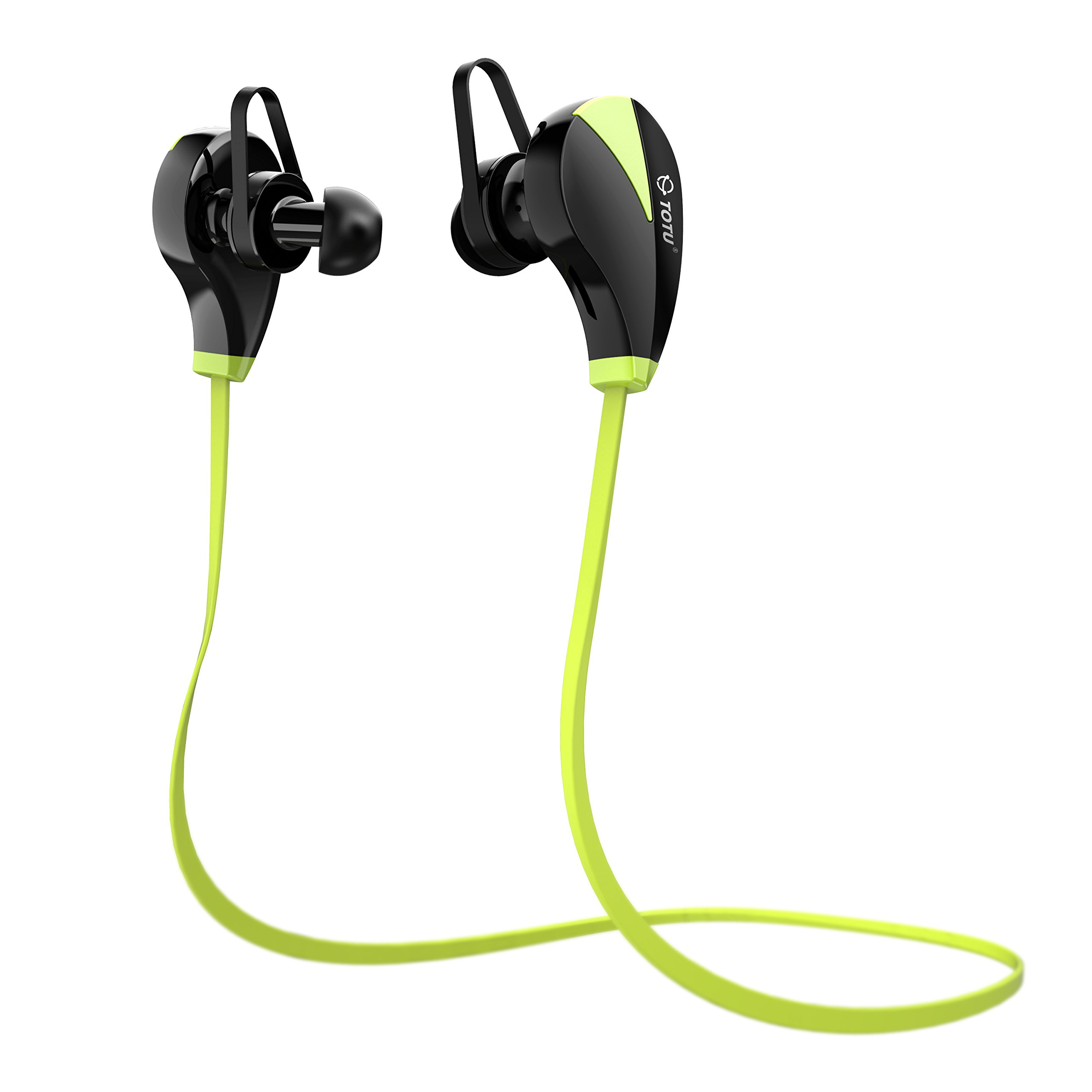 TOTU Bluetooth Headphones, V4.1 Stereo Noise Isolating Sports Sweatproof Headset with Mic for iPhone 7 Samsung Galaxy S7 and Android Phones [Upgraded Version], Black … (Green)