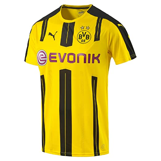 908caa8fac3 Amazon.com  Puma Borussia Dortmund FC 2016 17 Short Sleeve Jersey - Adult -  Cyber Yellow Black -  Clothing